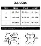 Spiderman Dog Hoodie - Size Guide - Petstora