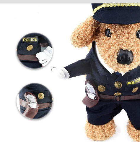 Funny Cat/Dog Police Costume