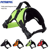 Padded Reflective Dog Harness Pet training Vest for Small Medium Large breeds Pet Collars pet products for dog Green - Pestora