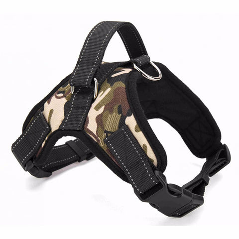 Big Dog Soft Adjustable Harness Pet Large Dog Walk Out Harness Vest Collar Hand Strap for Small and Large Dogs Pitbulls