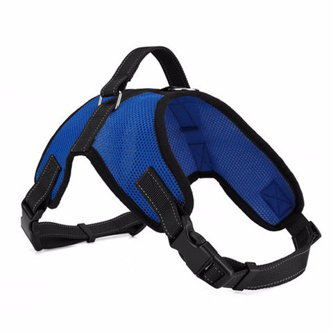 Big Dog Soft Adjustable Harness Pet Large Dog Walk Out Harness Vest Collar Hand Strap for Small and Large Dogs Pitbulls - Pestora