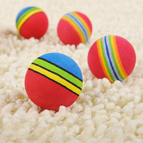 Dog Toy - New Arrival Spot Wholesale Pet Supplies Pet Toys Super Q Rainbow Ball Cat Toys Toy Dogs And Cats #1565480