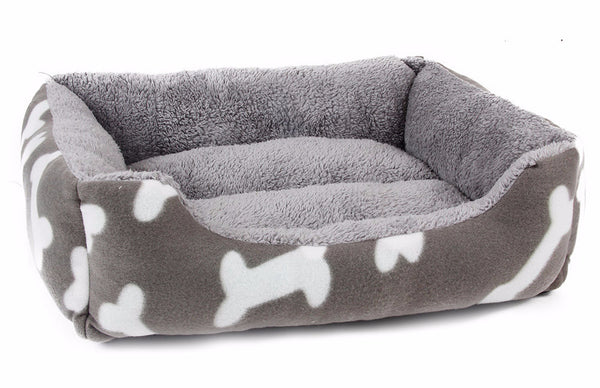 Hot Sale! Dog Bed Kennel Soft Dog Bone Mats Puppy Cat Bed Pet House Cozy Nest Small Dog Pad Winter Warm Pet Cushion Pet Products - Pestora