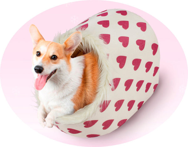 Winter Warm Paw Style Dog Bed Pet Dog House Lovely Soft Suitable Pet Cusion High Quality Products 5 Colors - Pestora