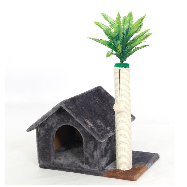 Domestic Delivery Cat House Toy Scratching Wood Climbing House Cat Jumping Toy Scratchers for Cat Furniture Scratching Post - Pestora