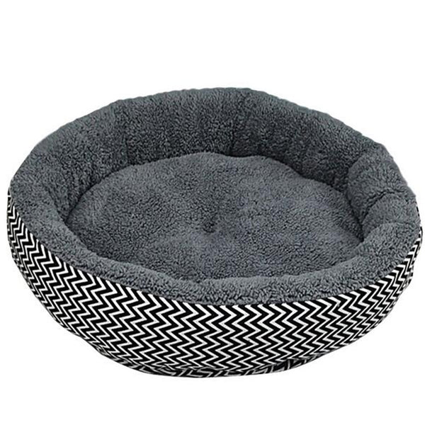 Petstora High Quality Round Soft Dog Bed Gray
