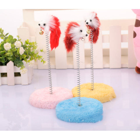 Loverly Cat Toy Scratcher Funny Ineractive Toy Round Bottom False Mouce Bell Toy Foy Cat Scratching Playing