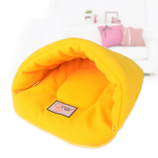 New Pet Cat Bed Small Dog Puppy Kennel Sofa Polar Fleece Material Bed Pet Mat Cat House Cat Sleeping Bag Warm Nest High Quality - Pestora