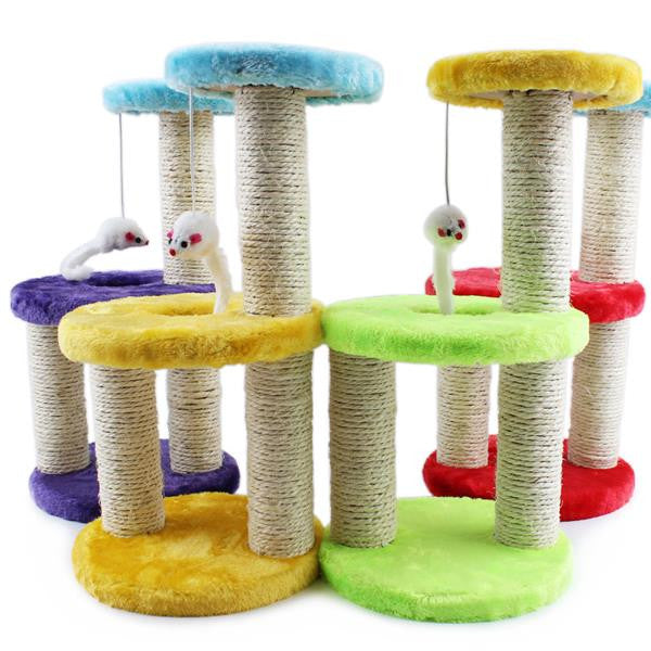 Creative Pet Cat Toy Crazy Cat and mouse Scratcher cat tree arbre a chat rascador para gatos For Cats Kitten 072203 - Pestora