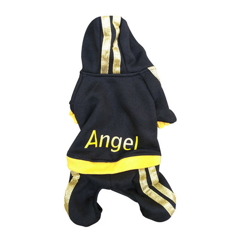 Pet Dog Clothes For Dogs Winter Clothing Cotton Dog Clothes Costume Sweatshirts Angel Print Coat Apparel Puppy Sports Clothes