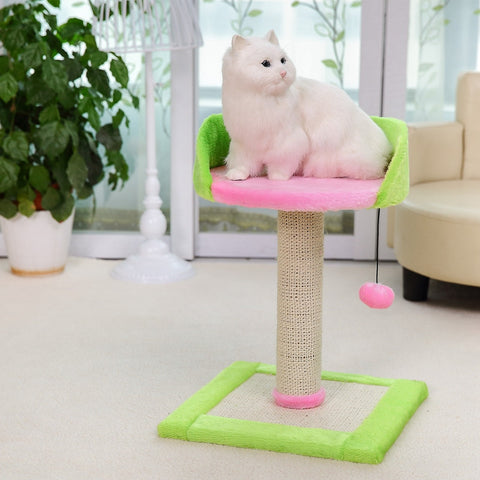 New Arrival Cat Climbing Cat Scratcher Post Pet Toy Furniture Kitten Jumping Training Product Kitten Playing With Ball
