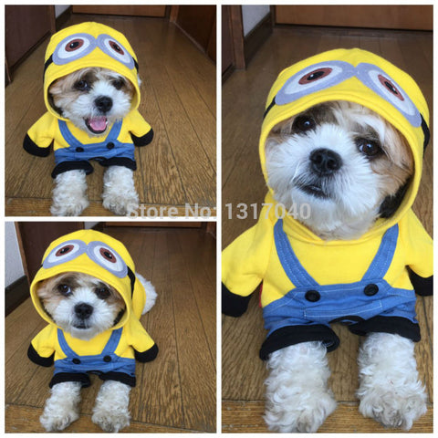 Funny Minion Costume for Cats and Dogs