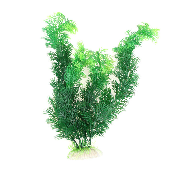 "11.8"" Green Artificial Plastic Plant for Fish Tanks"