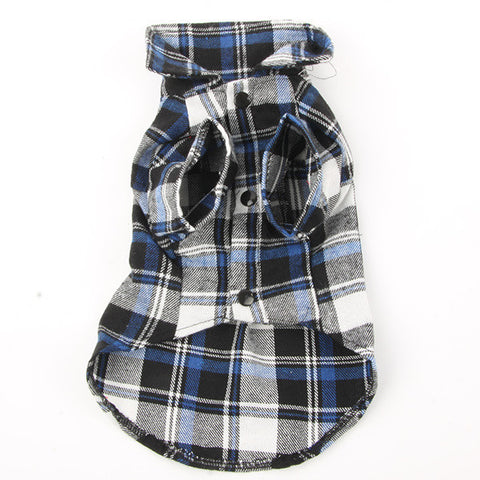 Dog Pet Casual Plaid Lapel Button Shirt Jacket Cotton Blend Sweatshirt Dogs Clothes Best