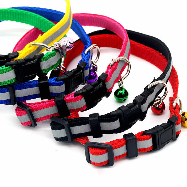 6 color dog cat traction rope chain collar   pet dog leash  telescopic dog collar bells pet products - Pestora