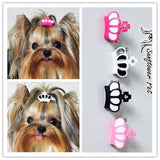 Pet Accessories  resin crown  clip  Dog Bows Dog Grooming Hair Bows  Doggie Pet Gifts - Pestora