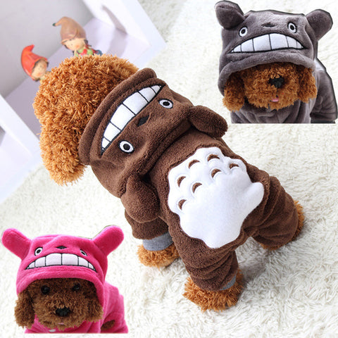 2016 Soft Fleece Dog Clothes Warm Pet Costume Winter Dogs Coat Autumn Hoody Four Legs Jumpsuit Clothing for yokie small dogs 25
