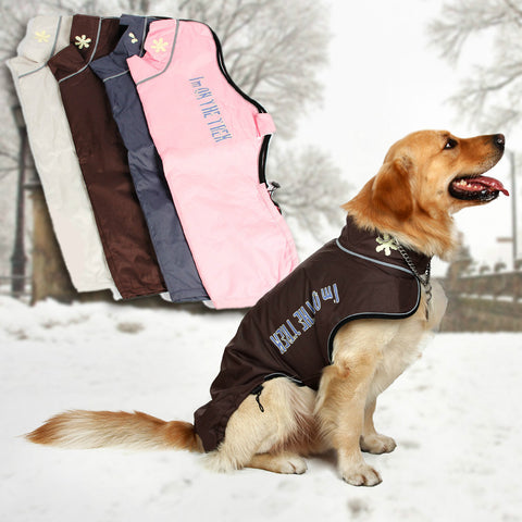 Large Medium Pet Dog Winter Warm Clothes Skiing Clothing Wear Snowsuit Pet Apparel Warm Coat Jacket For Big Dog Pet Products