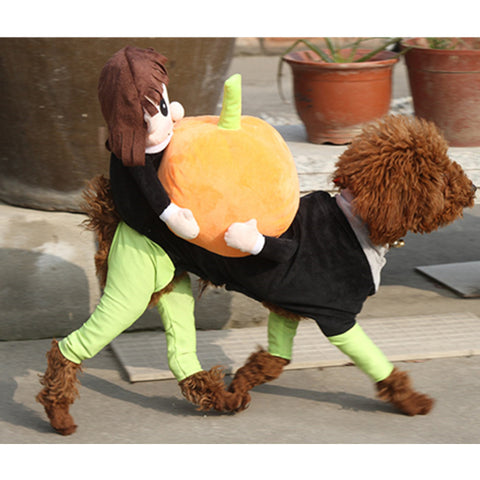 New Dog Costume Clothes For Halloween Pet Funny Clothing Cowboy and Pumpkin High Quality Fleece Dog Jumpsuit Coat