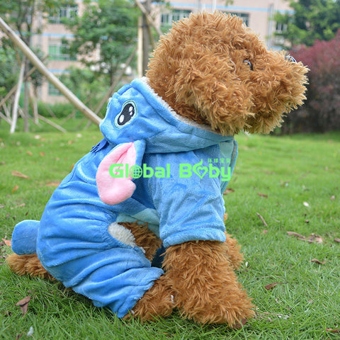 Brand Global Baby Cotton Blue Stitch Sytles Dog Coat Pet New Clothing Jacket