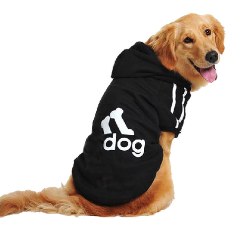3XL-9XL Large Plus Size Adidog Pet Big Dog Clothes Warm Autumn Winter Sport Hoodie Puppy Dogs Coat Golden Retriever DC099