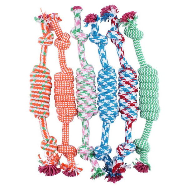 New Qualified Puppy Dog Pet Toy Cotton Braided Bone Rope Chew Knot New Random color dig645 - Pestora