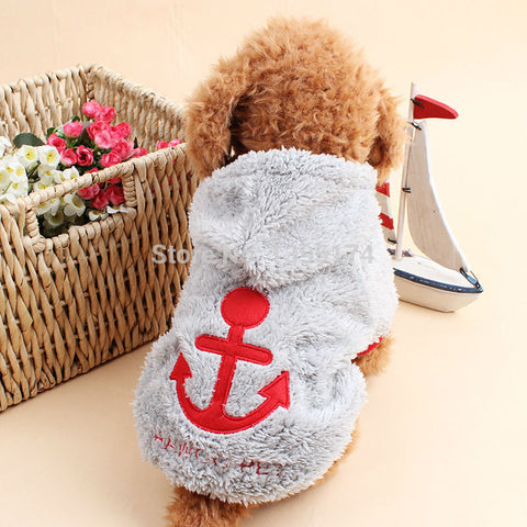 Adorable Dog Hoodie & Dog Costume with Anchor