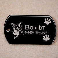 Free engraved write name phone number pet dog cat ID tag collar pet tag dog pet name pendent neckalce tag engraved military tag - Pestora