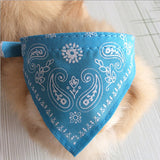 7 Colors 4 Size Adjustable Dog Collar Puppy Cat Scarf Collar for Dogs Bandana Neckerchief Paisley Pattern Pet Accessories - Pestora