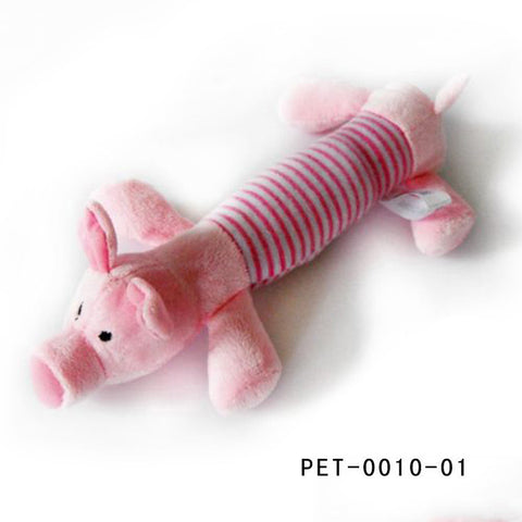 Free shipping Dog Pet Puppy Plush Sound Dog Toys Pet Puppy Chew Squeaker Squeaky Plush Sound Duck Pig & Elephant Toys 3 Designs - Pestora