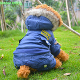 New Arrival Soft and Warm Cotton USA Thickening Air Force Large Dog Clothes Pet Big Coat XS-5XL - Pestora