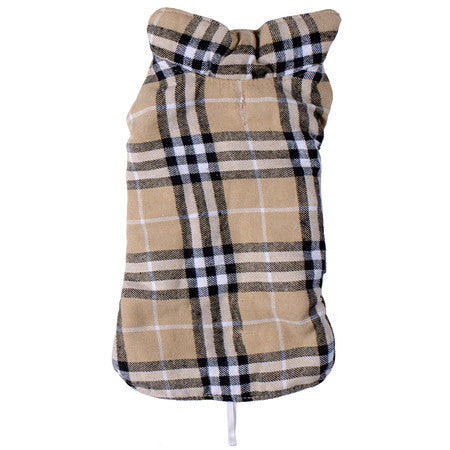 Waterproof Dog Jacket Reversible Design Warm Winter Dog Coats Pet Clothes Dog Vest Cloth Winter British Style Pet Clothing - Pestora