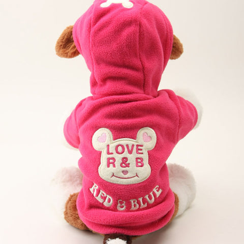 Hot New Small Dog Pet Clothes Cute Cartoon Bear Hoodie Warm Sweater Puppy Coat Apparel HH1