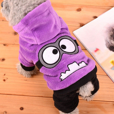 Winter Pet Dog Clothes Jumpsuit Dog Coat Jacket Clothing Cute Puppy Minions Costume for Chihuahua Teddy Cat Puppy Hoodie 35