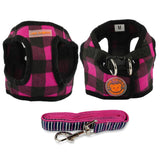 Cute  Puppy Dog Harness and Walking Leads Set 4 Sizes Pet Winter Vest - Pestora