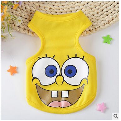 New 2016 Summer Fashion Sports dog clothes costume Chihuahua pet clothing cartoon animals dog vest C44