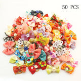 Armi store 20 Pcs Handmade Pet Grooming Accessories Products Dog Bow 6011026 Hair Little Flower Bows For Dogs Charms Gift - Pestora