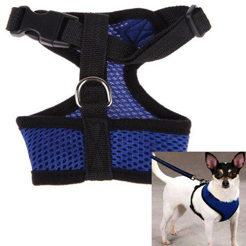 Adjustable Comfort Soft Breathable Dog Harness Pet Vest Rope Dog Chest Strap Leash Set Collar Leads Harness Free Shipping  MTY3 - Pestora