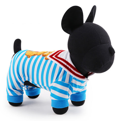 2016 New pet Dog Clothes Hot Sale Stripe dog hoodies for chihuahua Pet Dog Clothing winter Coats For Dogs XXS-L Free Shipping