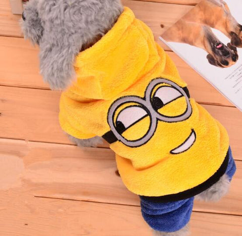 Warm Winter Pet Dog Clothes Fleece Dogs Minions Costume Cute Pets Hoodie Coat Jacket Autumn Jumpsuit Clothing for Puppy Dogs 39 - Pestora