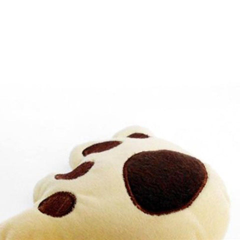 Lovely Pet Puppy Dog Bear Paw Shape Squeaky Sound Plush Play Chew Toys  Wholesale HH4