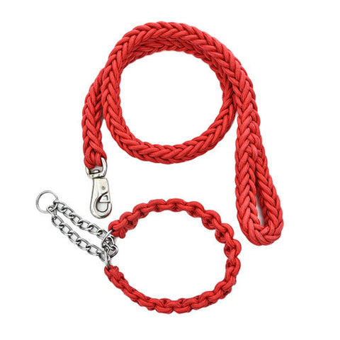 Free Shipping Large Dog Leash Big Dog Leash Chain Strong Dog Rope Pet Supplies Large Dog Collar Products For Animals Pet Shop