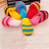 Cute Plush Slipper Shape Squeaky Toy  Puppy Chew Play Toy Sound Pet Supplies Dogs for Dogs Free Shipping CWYP015 - Pestora
