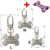 Free engraving text on front and back sides stainless steel pet dog tag customized name address telephone free toys attaching - Pestora