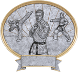 Karate Male Sport Legend Oval Series P