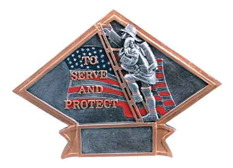 Fireman Diamond Plate Series J