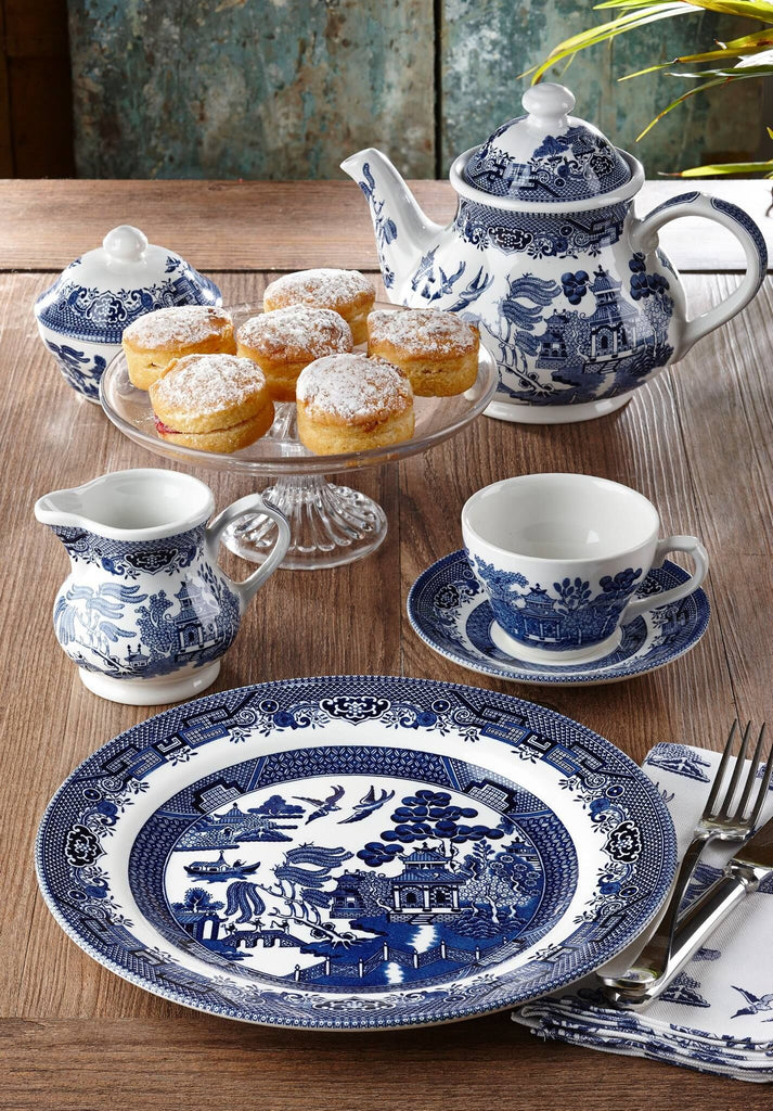 ... Churchill Blue Willow Plates Bowls Cups 20 Piece Dinnerware Set Made In England & Churchill Blue Willow Plates Bowls Cups 20 Piece Dinnerware Set ...