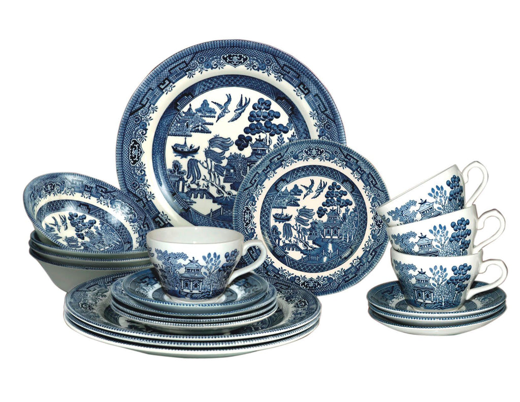 Churchill Blue Willow Plates Bowls Cups 20 Piece Dinnerware Set Made In England  sc 1 st  Delite Home - Shopify & Churchill Blue Willow Plates Bowls Cups 20 Piece Dinnerware Set ...