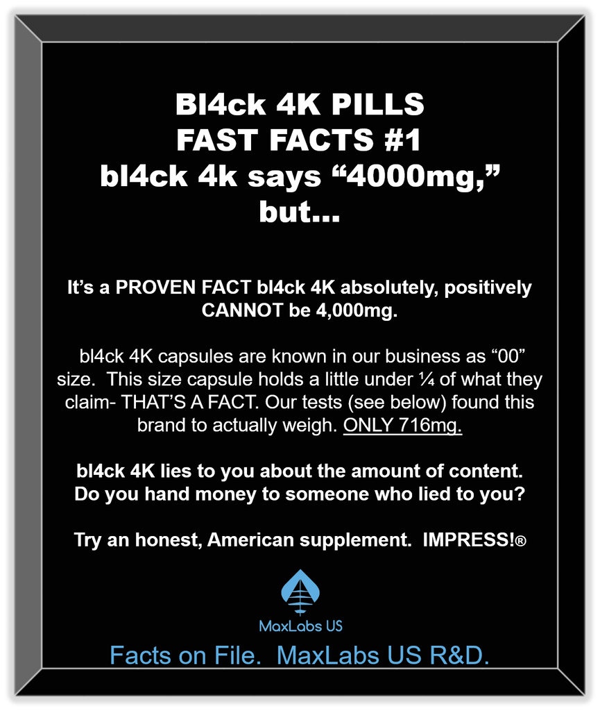 bl4ck 4k pills review examines all details of male enhancement product as displayed on this image