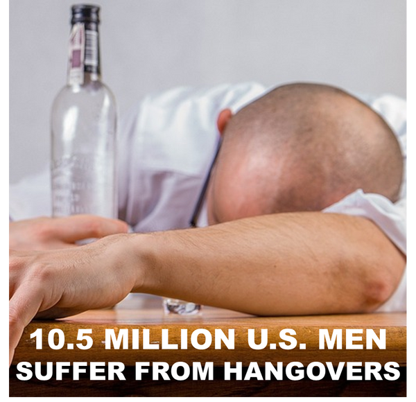 Picture of a man looking for fast hangover relief.